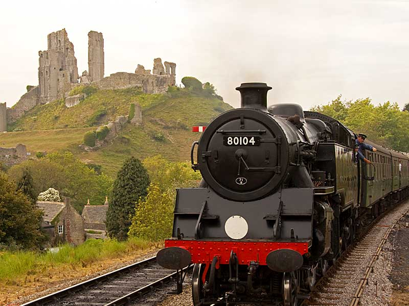 SA017 Swanage to Corfe Castle (return by Steam Train)